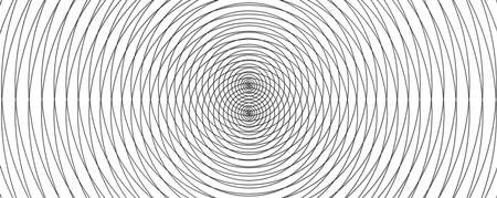 Abstract design with black and white concentric circles
