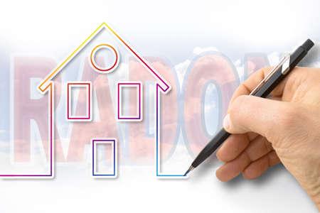 The danger of radon gas in our homes - concept image Reklamní fotografie