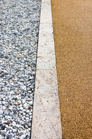 White gravel and stone pavement - image with copy space