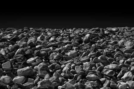 White and gray stones softly rounded - toned image
