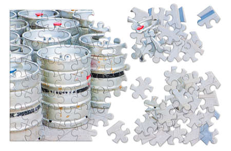 Beer brewing - concept image in puzzle shape
