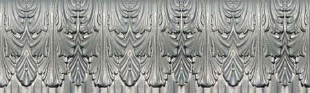 Italian metal frame with floral decorations - seamless pattern concept image useful for renderings applications.