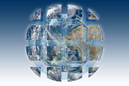 Rebuild the world - concept image