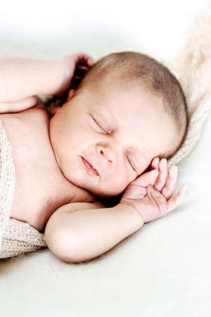 Portrait of a newborn baby boy Standard-Bild