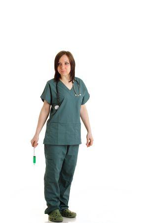 affraid: Female Doctor Stock Photo