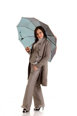 carreer: Woman with umbrella Stock Photo