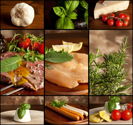 Food Collage Stock Photo - 8749106