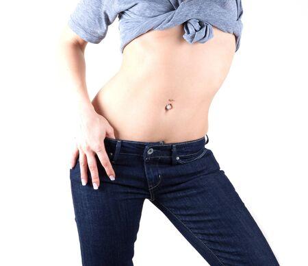 navel piercing: Female abdomen