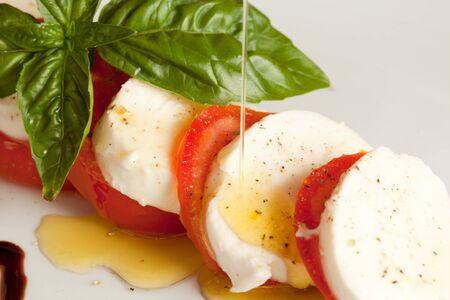 caprese: Tomatoe Mozzarella - Caprese Stock Photo