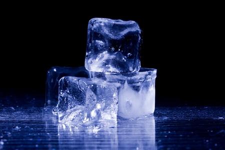beverage fridge: photo of ice cubes