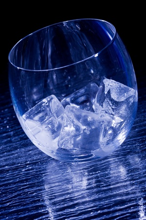 icecubes: photo of glass with icecubes