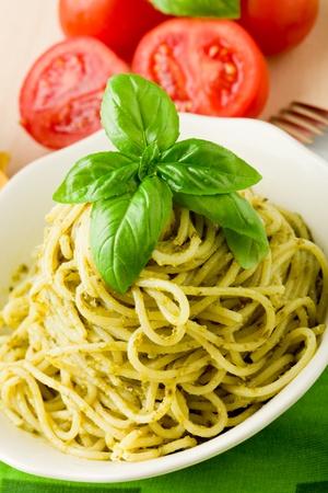 makarony: pyszne makaronu włoski z sosem pesto