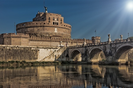 photo of the famous saint Angels castle in rome  photo