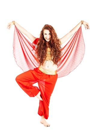 danseuse orientale: sexy danseuse arabe sur fond blanc isolé Banque d'images