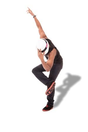 danza africana: foto de afro amercan bailarina sobre fondo blanco aisladas Foto de archivo