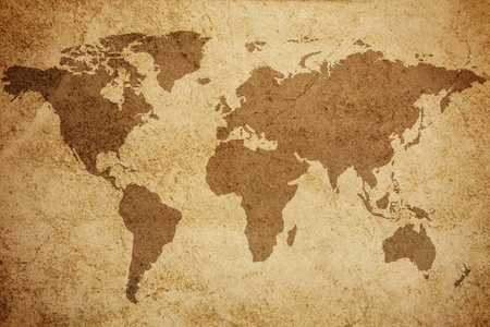 Ancient world map texture background  写真素材