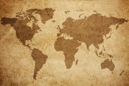 Ancient world map texture background  Standard-Bild