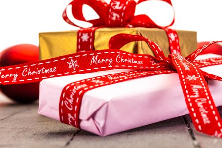 christmas presents: Photo of christmas presents and decorations