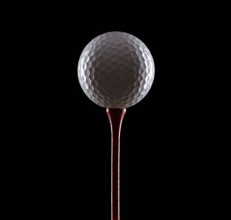 golf ball on black Stock Photo