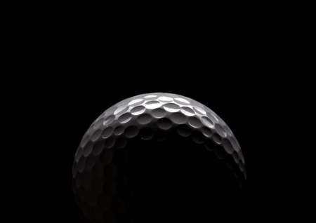 play golf: golf ball on black Stock Photo