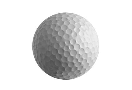 an isolated golf ball on white background Stock Photo