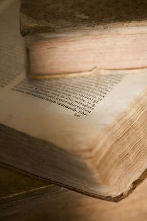 still life of latin ancient book