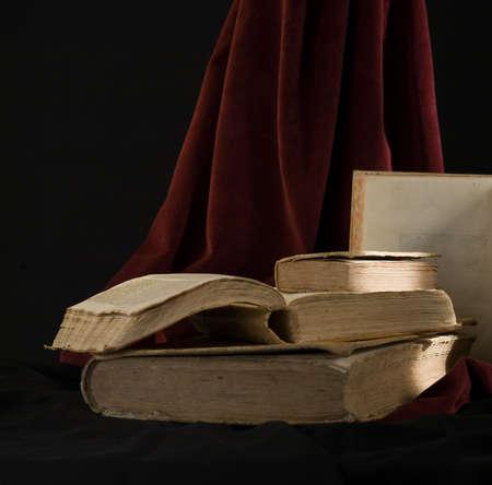 still life of latin ancient books Stock Photo