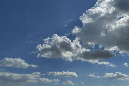 blue sky with clouds closeup - background