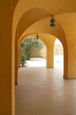 mediterranean antique building - tunisia Stock Photo