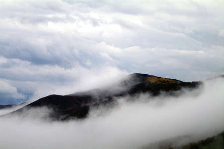 clouds between hills in tuscany- italy