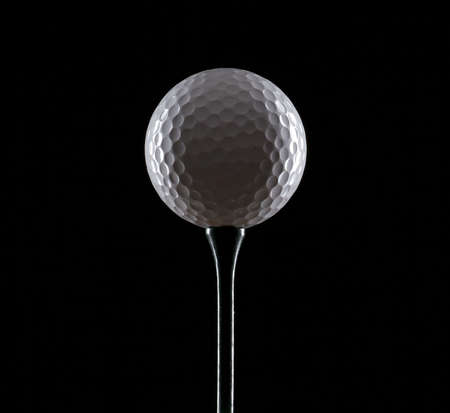 golf ball on black Stock Photo