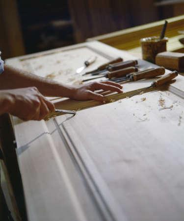 craftsman on work - worker man Stock Photo