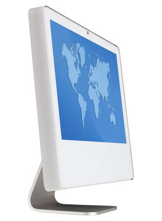 modern monitor isolated with clipping path Stock Photo
