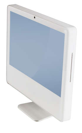 modern monitor isolated