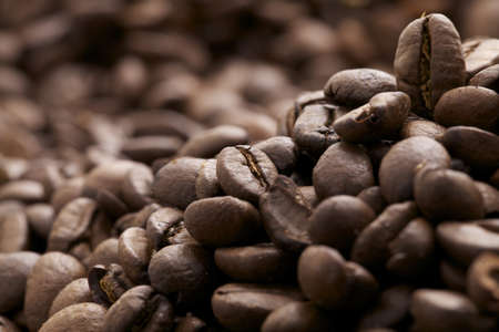 view of brown cofee beans - caffè espresso Stock Photo