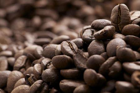 view of brown cofee beans - caffè espresso Stock Photo