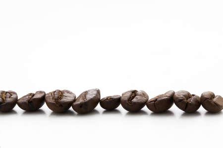 cofee bean isolated on white - caffe espresso Stock Photo