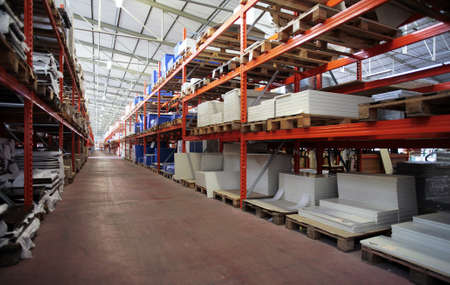 warehouse storage: industry wharehouse - stocking and storage detail Stock Photo