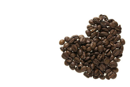 an heart made with coffee beans - caffe espresso Stock Photo