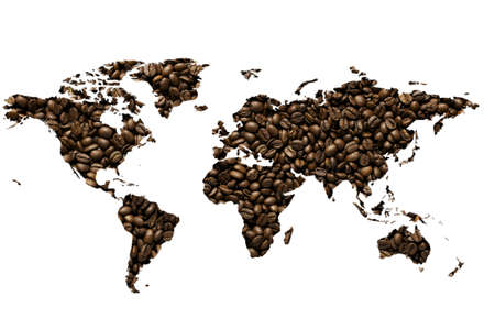 an heart made with coffee beans - caffe espresso photo
