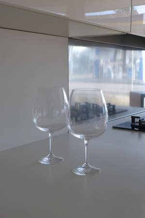 detail of two glasses in a kitchen Stock Photo