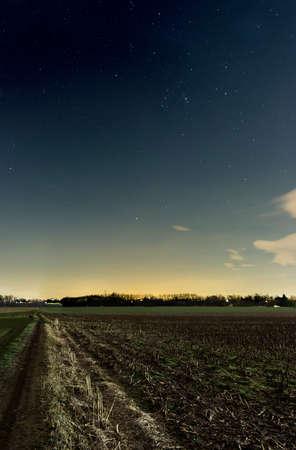 A country lane under the stars Archivio Fotografico
