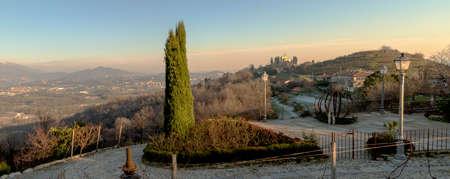 A overview of Montevecchia in the provinces Lecco Lombardy Italy Archivio Fotografico
