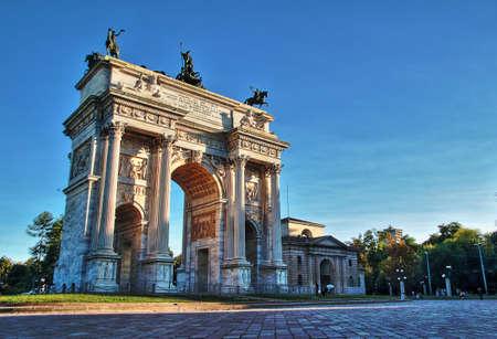 The quotArch of Peacequot monument in Milan Archivio Fotografico