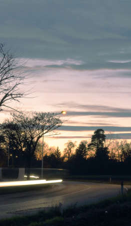 curving: A curving streak of light