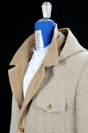 inserts: Wool Coat beige, inserts and covers in velvet  Detachable hood