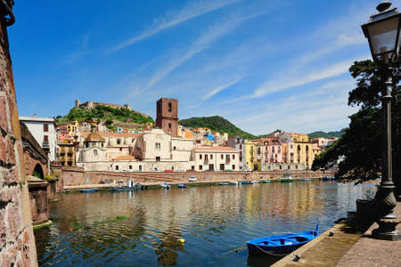 Bosa is situated on the mouth of the river Temo, the only town in Sardinia built on the estuary of a river navigable  photo