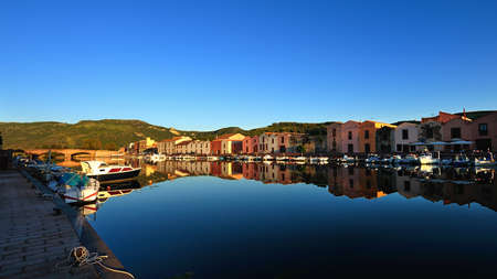 Bosa is situated on the mouth of the river Temo, the only town in Sardinia built on the estuary of a river navigable