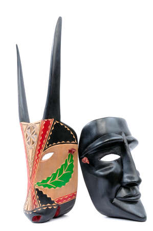 finer: Picture of the traditional mask of the Carnival of Ottana Sardinia Italy. Stock Photo