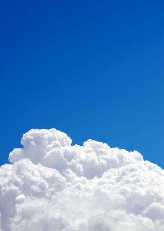 cumulonimbus: Picture of cumulonimbus clouds on a blue sky on a warm summer afternoon
